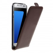 SAMSUNG GALAXY S7 EDGE cover vertikal flip brun Mobiltelefon tilbehør