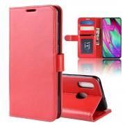 rød Vilo flip etui Samsung A40 Mobil tilbehør