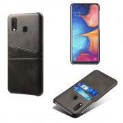 Case med kortholdere Samsung A20e sort Mobil tilbehør