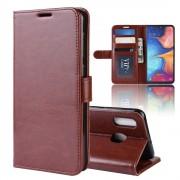 brun Vilo flip cover Samsung A20e Mobil tilbehør