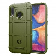 grøn Rugged shield case Samsung A20e sort Mobil tilbehør