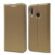 guld Slim flip cover Samsung A20e Mobil tilbehør