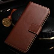 SAMSUNG GALAXY S7 EDGE split læder cover med kort lommer brun, Mobiltelefon tilbehør