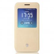 SAMSUNG GALAXY S7 EDGE Premium læder cover med vindue khaki, Mobiltelefon tilbehør