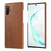 brun Premium læder case Samsung Note 10 plus Mobil tilbehør