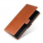 brun S-line flip cover Samsung Note 10 plus Mobil tilbehør
