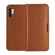 brun Royale flip etui Samsung Note 10 plus Mobil tilbehør