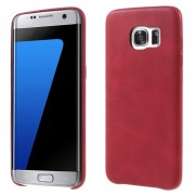 SAMSUNG GALAXY S7 EDGE vintage læder cover rød, Mobiltelefon tilbehør
