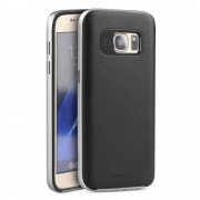 SAMSUNG GALAXY S7 hybrid bag cover sølv,Mobiltelefon tilbehør