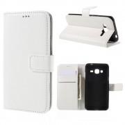 SAMSUNG GALAXY J3 cover m lommer hvid Mobiltelefon tilbehør
