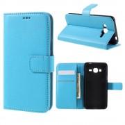 SAMSUNG GALAXY J3 cover m lommer blå Mobiltelefon tilbehør