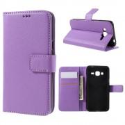 SAMSUNG GALAXY J3 cover m lommer lilla Mobiltelefon tilbehør