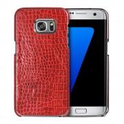 SAMSUNG GALAXY S7 EDGE cover håndlavet rød Mobiltelefon tilbehør