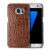 SAMSUNG GALAXY S7 EDGE cover håndlavet brun Mobiltelefon tilbehør