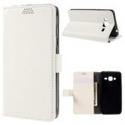 SAMSUNG GALAXY J3 cover pung hvid Mobiltelefon tilbehør