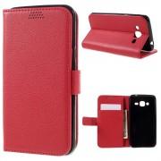 SAMSUNG GALAXY J3 cover pung rød Mobiltelefon tilbehør