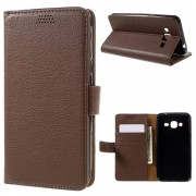 SAMSUNG GALAXY J3 cover pung brun Mobiltelefon tilbehør
