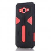 Samsung Galaxy J3 cover hybrid armor rød Mobiltelefon tilbehør Leveso.dk