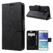 SAMSUNG GALAXY J5 (2016) cover med lommer sort Mobiltelefon tilbehør