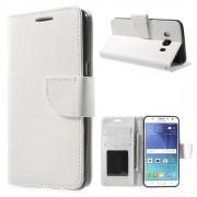 SAMSUNG GALAXY J5 (2016) cover med lommer hvid Mobiltelefon tilbehør
