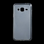 SAMSUNG GALAXY J3 cover TPU diamond klar Mobiltelefon tilbehør