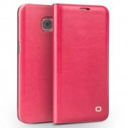 SAMSUNG GALAXY S7 premium læder cover etui med kort holder rosa Leveso Mobil tilbehør