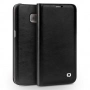 SAMSUNG GALAXY S7 EDGE premium læder cover med kort holder sort, Mobiltelefon tilbehør
