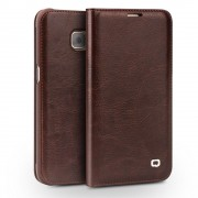 SAMSUNG GALAXY S7 EDGE premium læder cover med kort holder brun, Mobiltelefon tilbehør