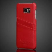 SAMSUNG GALAXY S7 EDGE cover m lommer ægte læder rød Mobiltelefon tilbehør