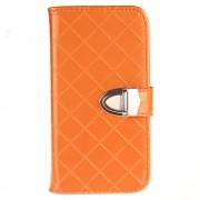 SAMSUNG GALAXY J3 cover pung blank orange Mobiltelefon tilbehør