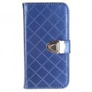 SAMSUNG GALAXY J3 cover pung blank blå Mobiltelefon tilbehør