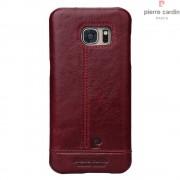 Til Samsung Galaxy S7 rød cover Pierre Cardin design læder Mobiltelefon tilbehør