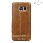 til Samsung Galaxy S7 brun cover Pierre Cardin design læder Leveso.dk Mobiltelefon tilbehør