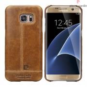 Til Samsung Galaxy S7 Edge brun cover Pierre Cardin design læder Leveso.dk Mobiltelefon tilbehør