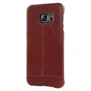 Til Samsung Galaxy S6 Edge rød cover original Pierre Cardin design læder Mobiltelefon tilbehør