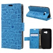 Cover cartoon blå Samsung Galaxy A3 2017 Mobilcovers