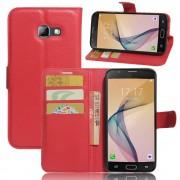 til Samsung Galaxy A5 2017 rød etui omslag med lommer Mobil tilbehør