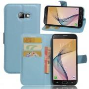til Samsung Galaxy A5 2017 blå etui cover omslag med lommer Samsung Galaxy Mobil tilbehør hos Leveso.dk