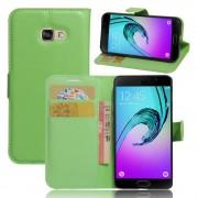 Til Samsung Galaxy A3 2017 grøn pung etui med lommer Mobiltelefon tilbehør