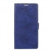 Samsung Galaxy A5 2017 blå omslag etui krokodille læder, Samsung Mobil cover og tilbehør hos Leveso.dk