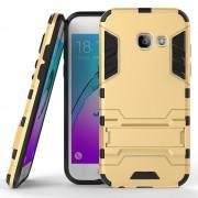 Samsung Galaxy A3 2017 guld cover hybrid armor Leveso.dk Mobiltelefon tilbehør