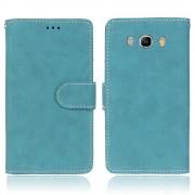 Samsung Galaxy J5 2016 fliplæder  cover vintage blå Mobilcover