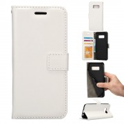 Samsung Galaxy S8 cover etui hvid med lommer pu læder, Samsung Galaxy S8 cover hos Leveso.dk