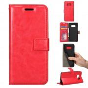 Til Samsung Galaxy S8 cover rød med lommer pu læder, Samsung Galaxy S8 cover hos Leveso.dk