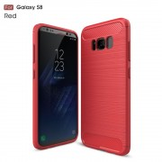 C-style armor cover rød Galaxy S8 Mobilcovers
