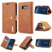 2 i 1 læder cover brun Galaxy S8 Mobil tilbehør