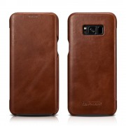 Galaxy S8 plus cover Icarer brun Mobilcovers