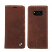 Til Samsung Galaxy S8 plus luksus cover brun vintage, S8 plus covers