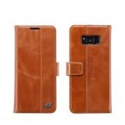 Unikt cover til Samsung Galaxy S8 i ægte læder brun Mobil tilbehør