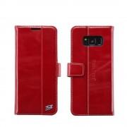 Samsung Galaxy S8+ unikt rød cover i ægte læder, Mobil tilbehør